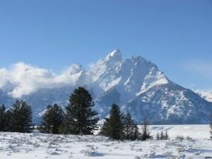 Snow on the Grand Teton